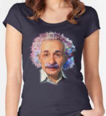 Albert Einstein - Galaxy Women's Fitted Scoop T-Shirt