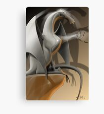 The Dragon explains... Canvas Print