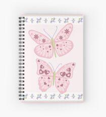 Flower Butterfly Spiral Notebook