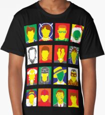 Faces of Carrey Long T-Shirt