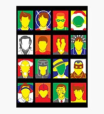 Faces of Carrey Photographic Print