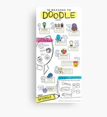 10 Reasons to Doodle Infographic Metal Print