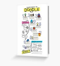 10 Reasons to Doodle Infographic Greeting Card