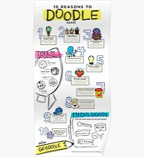 10 Reasons to Doodle Infographic Poster