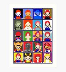 Minimal Mario Art Print