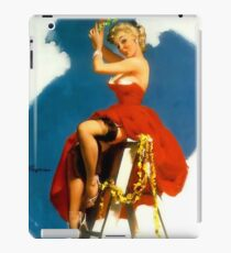 Christmas Mistletoe Gil Elvgren Pinup iPad Case/Skin