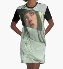 Aesthetic Pulp Fiction Graphic T-Shirt Dress