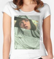 Aesthetic Pulp Fiction Women's Fitted Scoop T-Shirt