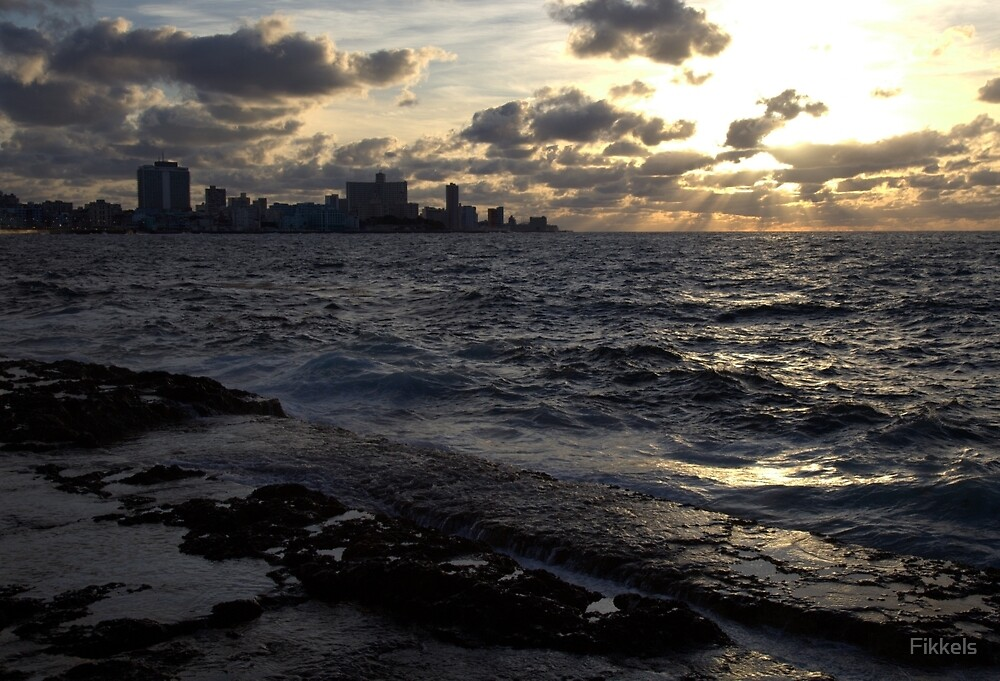 Havana from Malecon by Fikkels