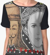 (V For Vendetta - We The People) - yks by ofs珊 Women's Chiffon Top