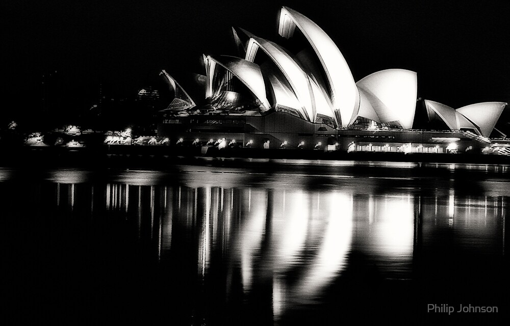 Black and White Rhapsody - Sydney Opera House - The HDR Experience by Philip Johnson