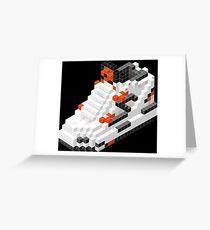 The Pump Pixel 3D Sneaker Greeting Card