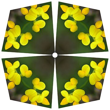 Yellow Flower Power Tile by macrodesign
