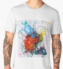 Moments Abstract Red Heart  Men's Premium T-Shirt
