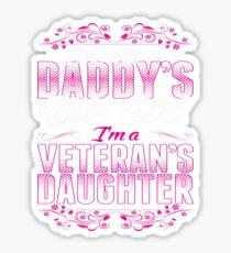 I'm A Veterans Daughter Not Just Daddy's Little Girl - Best Design Sticker