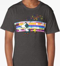 Snoopy , Woodstock, Peanuts , Retro Skate Long T-Shirt
