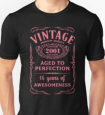 Pink Vintage Limited 2001 Edition - 16th Birthday Gift Unisex T-Shirt
