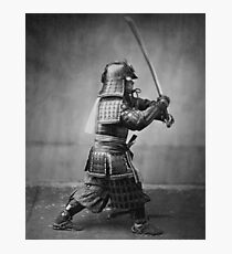 Samurai Brandishing His Sword - Japanese History Photographic Print