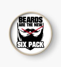 Beards are The New Six Pack Clock