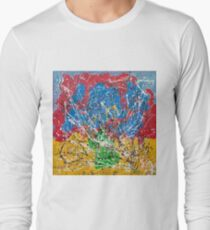 Frequency Abstract by Masko7 Long Sleeve T-Shirt