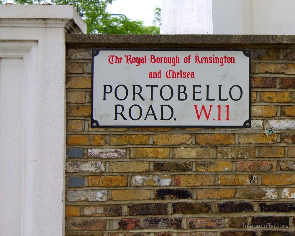 a sign in London by Imagecollectors