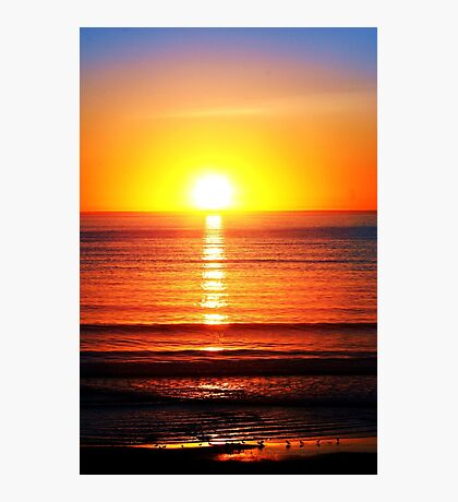 Sunset Pipers Photographic Print