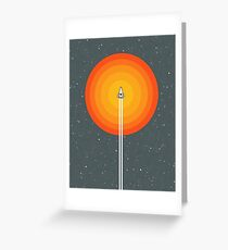 Cruising Past The Sun Greeting Card