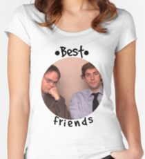 Jim and Dwight - Best Friends Unite! Women's Fitted Scoop T-Shirt