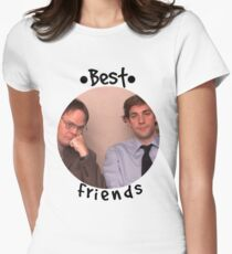 Jim and Dwight - Best Friends Unite! Women's Fitted T-Shirt