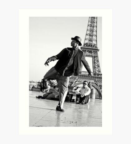 Slyde the Artist 01 (in Paris) Art Print