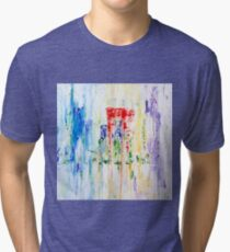 Rainy City Abstract by Masko7 Tri-blend T-Shirt