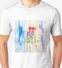 Rainy City Abstract by Masko7 Unisex T-Shirt
