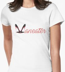 """""""Maneater"""" Womens Fitted T-Shirt"""