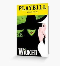 Wicked Broadway Playbill Cover Artwork Greeting Card