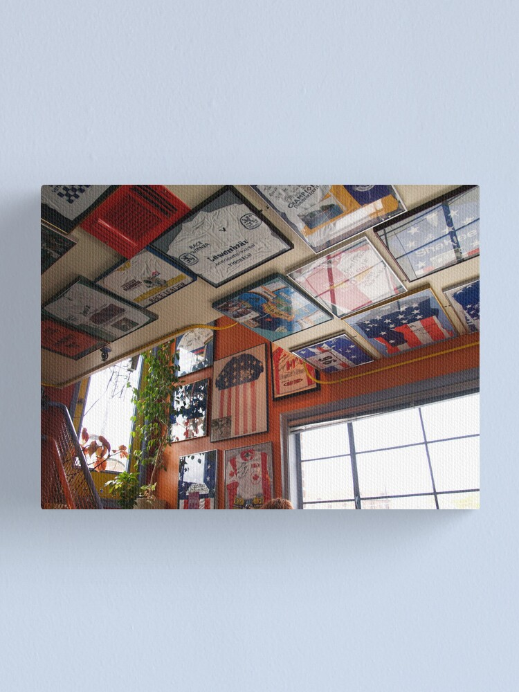 Alternate view of DGN Ceiling Jerseys II Canvas Print