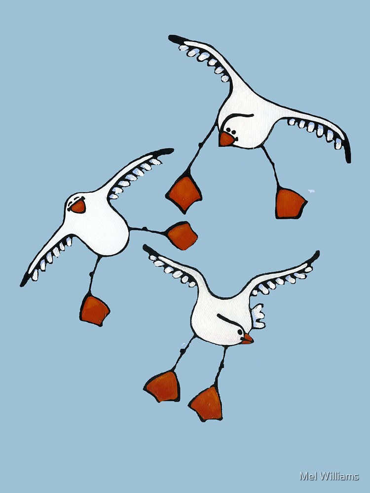 Happy Gull Tee by MelWilliams