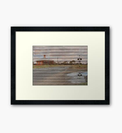 Barleyfields Crossing  Framed Print