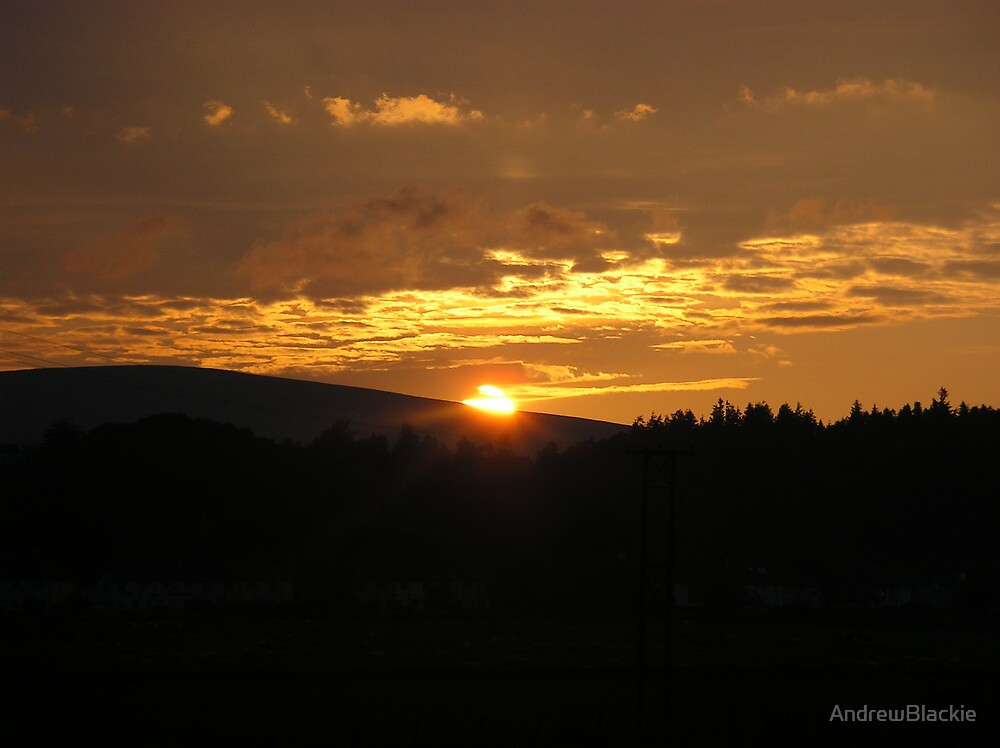 Sunset Over West Linton by AndrewBlackie