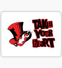 Pegatina Toma tu corazón