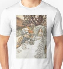 The Mad Hatters Tea Party by Arthur Rackham Unisex T-Shirt