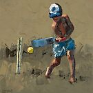 Beach Cricketer II by Claire McCall