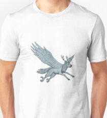 Peryton Flying Side Drawing T-Shirt