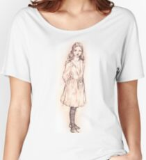 Alice in Wonderland sketch by Arthur Packham Women's Relaxed Fit T-Shirt
