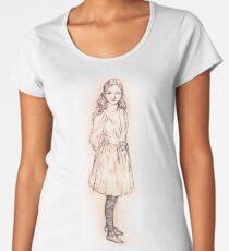 Alice in Wonderland sketch by Arthur Packham Women's Premium T-Shirt