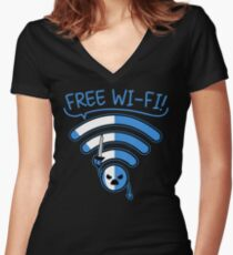 Free Free!!! Women's Fitted V-Neck T-Shirt