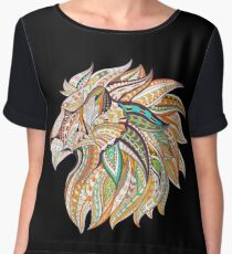 Tribal Lion Head Women's Chiffon Top