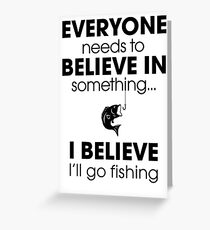 Fishing Funny Greeting Card