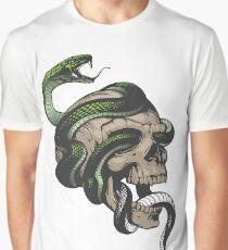 Snake in Skull Graphic T-Shirt