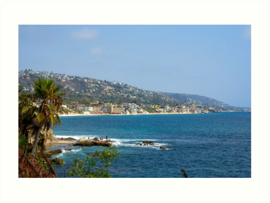 Laguna Beach Coastline by K D Graves Photography