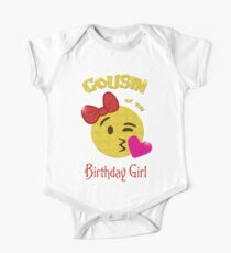 Cousin of the Birthday Girl Emoji Birthday Party Kids Clothes